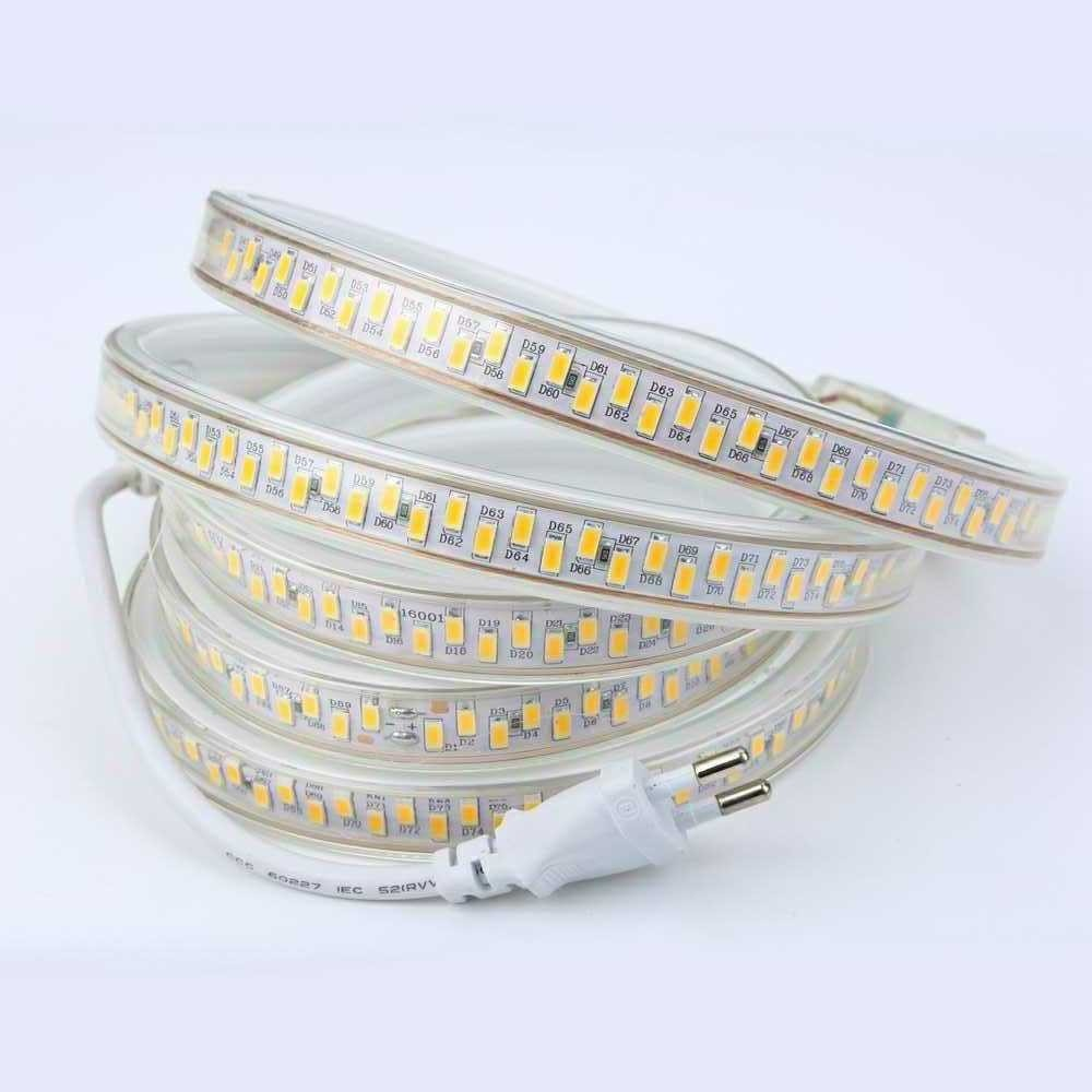 180Leds/m 5630 5730 LED Strip Light 220V Tape Waterproof Supper brightness Home Decoration