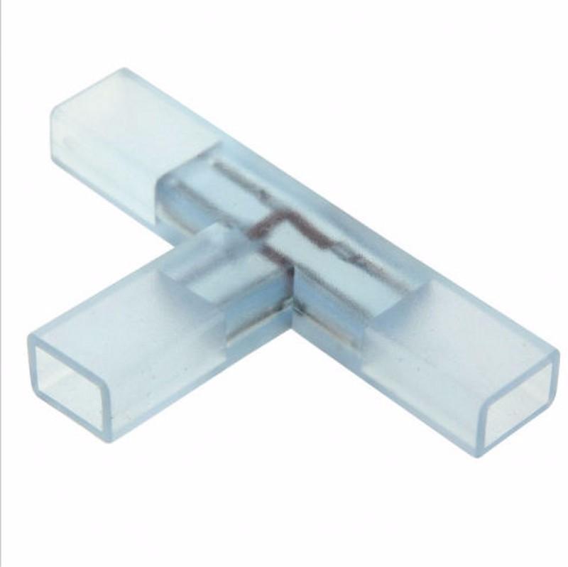 5Pcs 2 pin L T Shape Corner Connector Middle Plug With Copper Needle For 110V 220V LED Strip 5050 3014 2835 Single Color