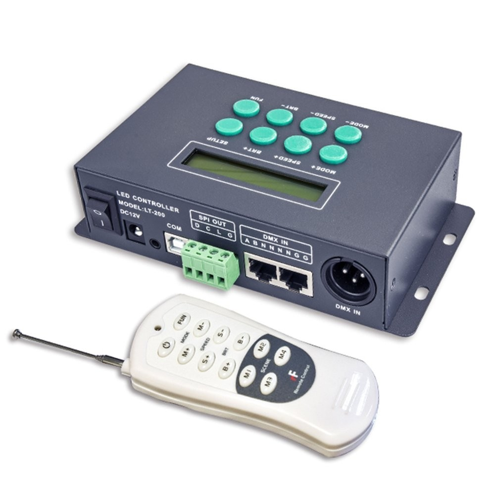 LT-200 DMX512 LED gradation Contrôleur SPI Digital Master DC 12 V écran LCD 540 Modes 0–100% contrôle Lampes LED