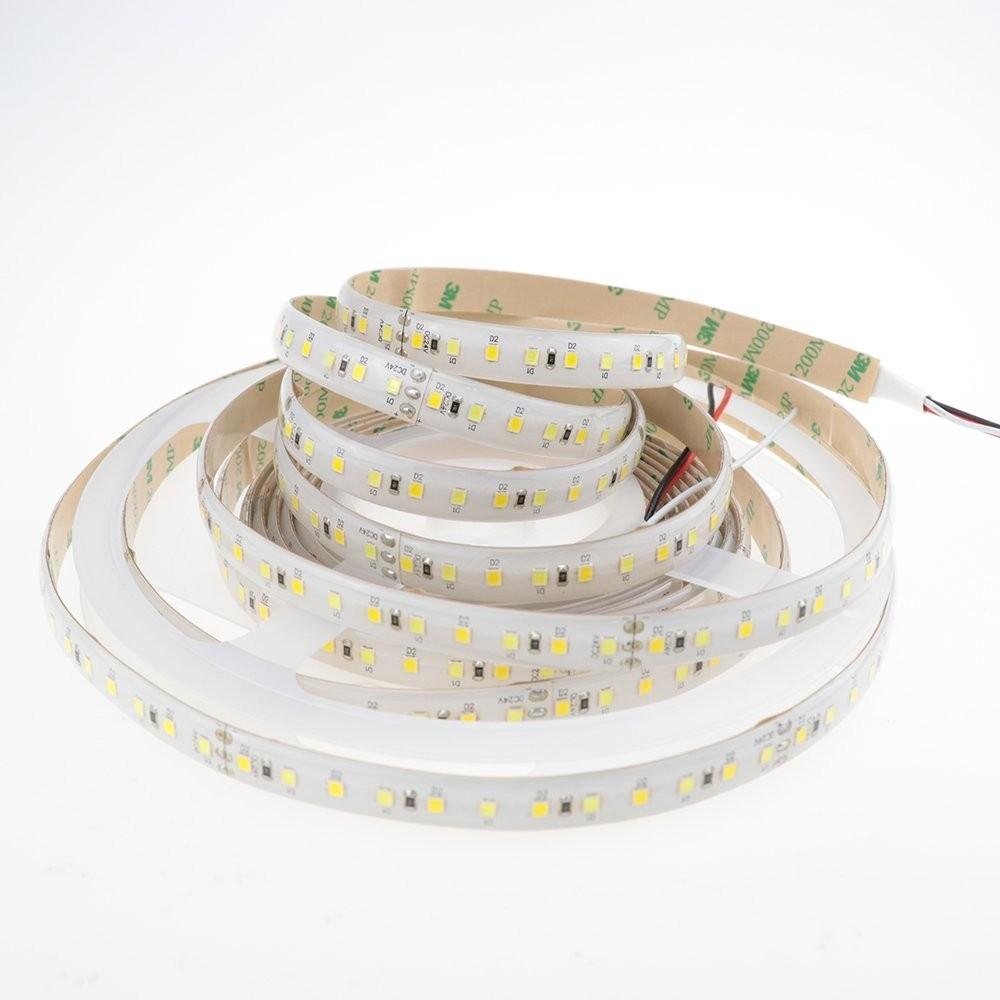 Super Bright 2835 SMD 24V 600leds bicolore double blanc chaud froid Cool température de couleur réglable flexible LED Strips lampe ruban 16,4ft (5m)