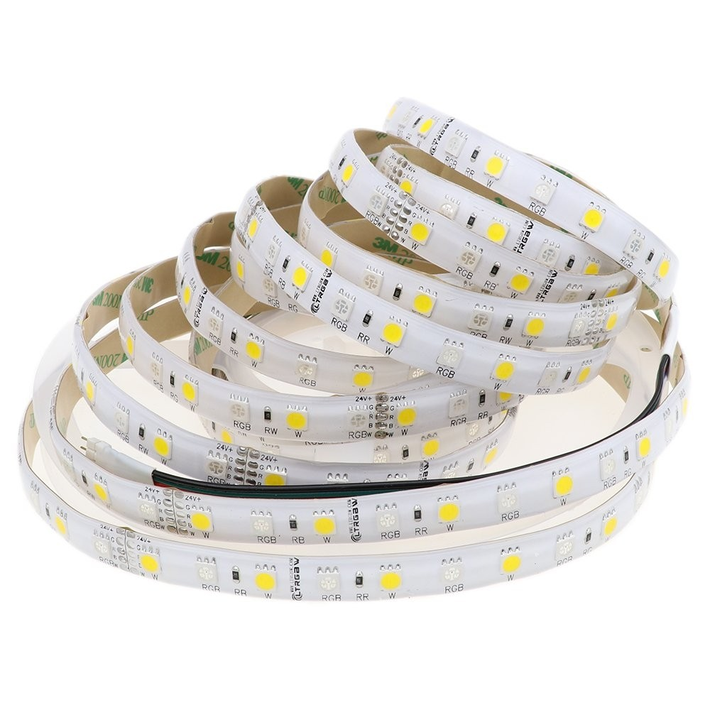 Super Bright 5M SMD5050 LED Strip Lighting 24V DC 360LEDs RGB + Froid Blanc RGB + Blanc chaud LED Flexible Strip Lights