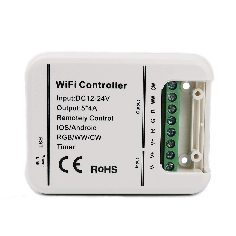 Contrôleur WiFi LED DC 12-24V DIM CCT RGB RGBW RGB-CW-WW LED Ruban Bande LED pour IOS Android