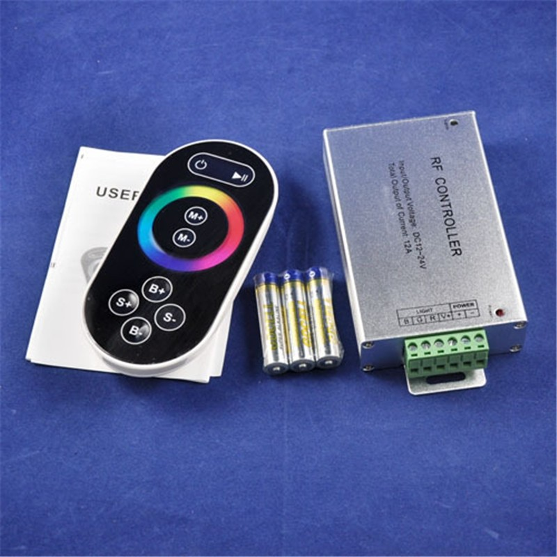 12-24V Aluminum LED RGB Touch Controller W/  RF Remote