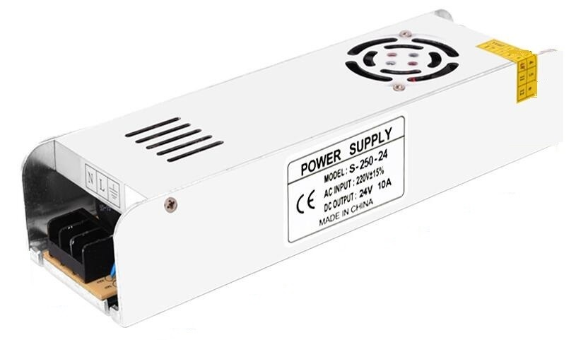 DC24V 10A 250W Long Strip Power Supply LED Driver Adapter Switching Transformer