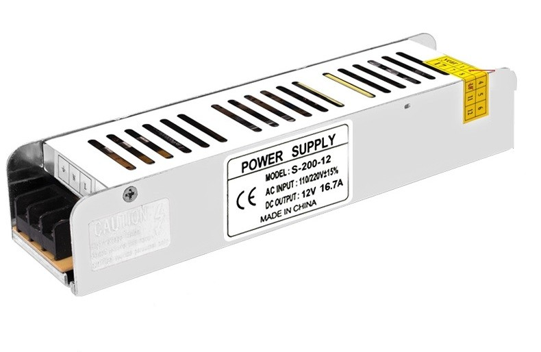DC 12V 16.7A LED Power Supply 200W Driver Adapter Lighting Transformers