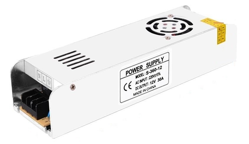 DC 12V 30A LED Power Supply 360W Driver Adapter Lighting Transformers