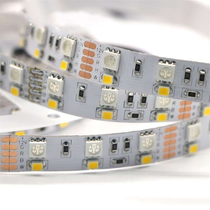 Double Row RGBW LED Strip 5050 RGB + 2835 White / Warm White 12V