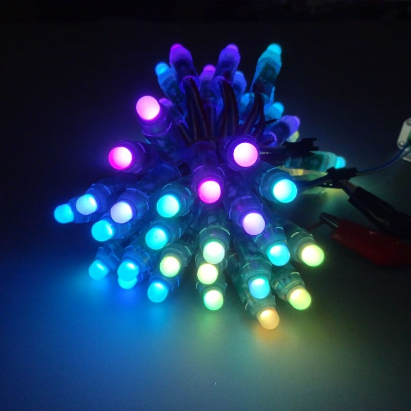 500pcs 12mm WS2811 Full Color LED Pixel Light Module DC 5V Input IP68 Waterproof RGB Color 2811 IC Digital LED Christmas Ligh