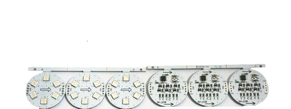 9pcs/lot DC12V WS2811IC PCB 38mm Diameter D38 6leds 5050 SMD Led Board Pixels Point Node Light Module Addressable Led Chip Board