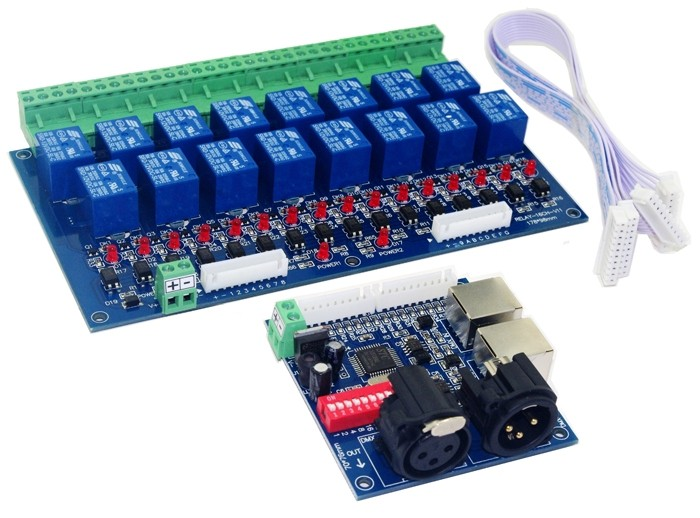 16CH DMX 512 Controller Relay DMX-RELAY-16CH 10A