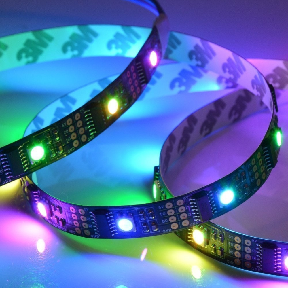 WS2801 Addressable LED Strip Arduino TV 32LEDS/M 5050 RGB 12MM DC 5V