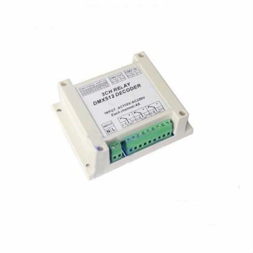 3ch dmx512 Relay Controller Decoder WS-DMX-RELAY-3CH-220