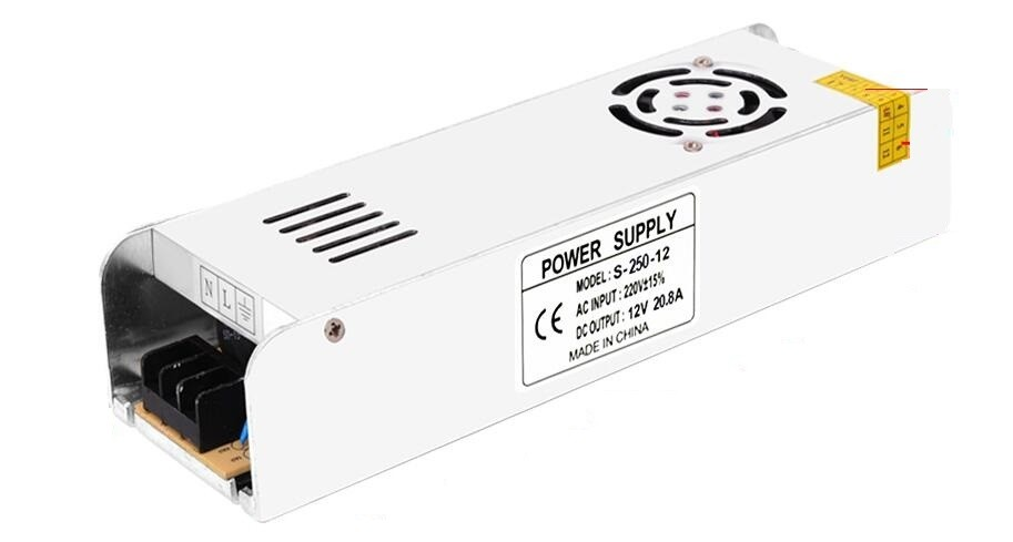 DC 12V 20A LED Power Supply 250W Driver Adapter Lighting Transformers