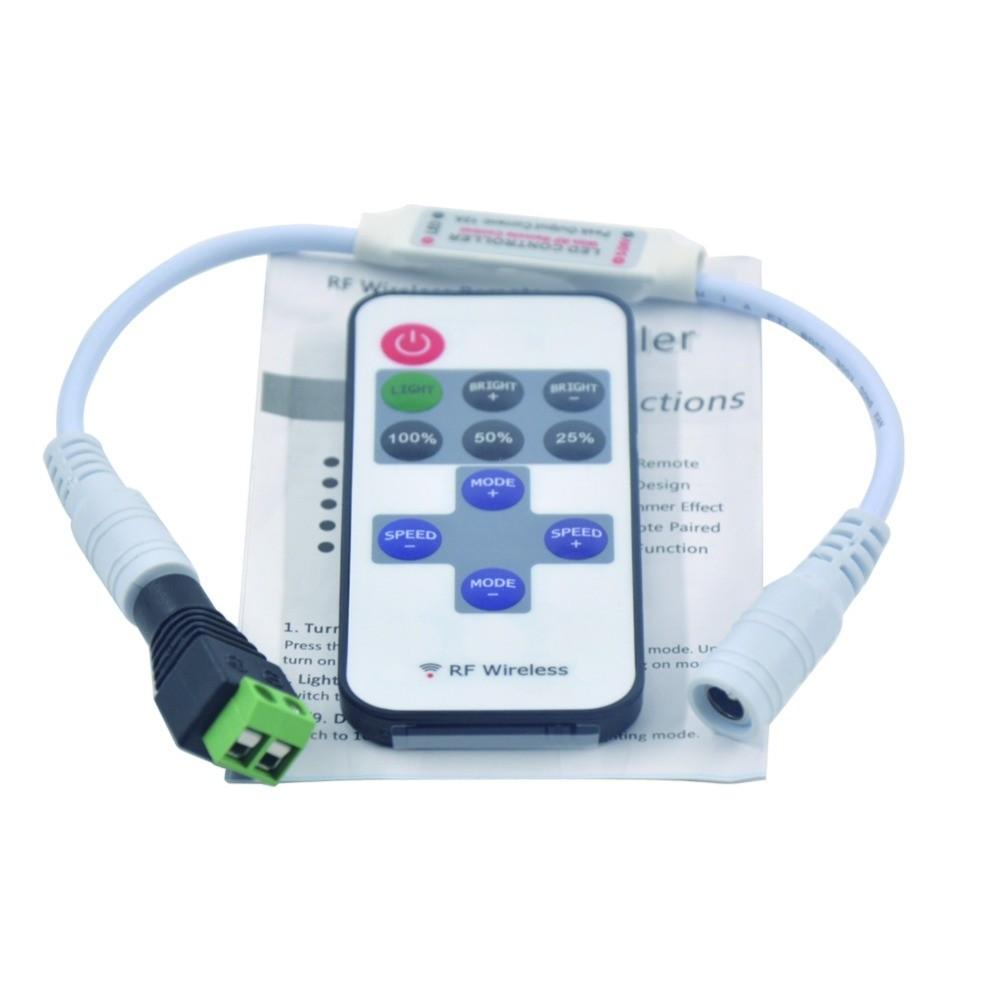2pcs 11 keys RF Wireless LED Remote Controller Dimmer DC 5V-24V
