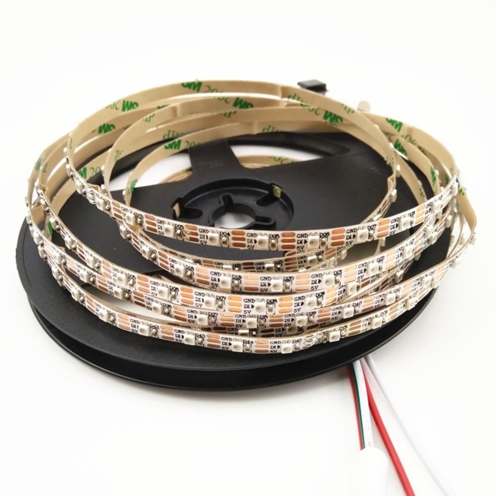 SK6805(Similar to SK6812) SMD2427 RGB 100LEDS/M DC5V Ultra Slim 5MM-Wide Digital Intelligent Addressable LED Strip Lights - 5m/16.4ft per roll