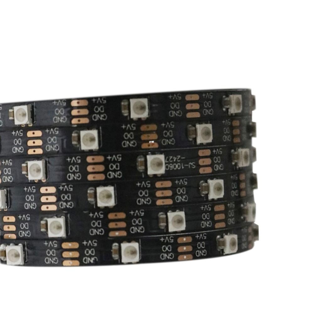 SK6805(Similar to SK6812) SMD2427 RGB 60LEDS/M DC5V Ultra Slim 4MM-Wide Digital Intelligent Addressable LED Strip Lights - 5m/16.4ft per roll