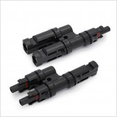3 Pairs 2 In 1 T/Y IP67 Solar Panel Cable MC-4 T Branch Splitters Connector , Solar Pv Parallel Branch Splitter LJ0144
