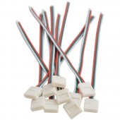 5Pcs 3Pin 10mm Cable LED Strip Solderless DIY Connecter Adapter Conductor