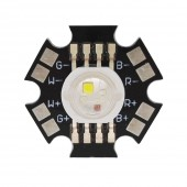 10PCS 4W RGBW RGBWWHigh Power Led Bead Lamp Light RGB+Cool/Warm White With 20mm Star Base For LED Stage light