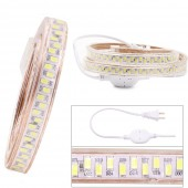 110V LED Strip 5730 SMD 180Leds/m Waterproof Flexible Led Light 5630 White Blue Green 5m 10m US Plug