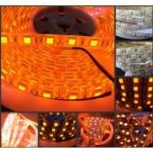 16.4Ft 600nm True Orange LED Strip 5050 3528 SMD 5M 300 / 600 LED Tape Rope Lights 12V For Home Decoration
