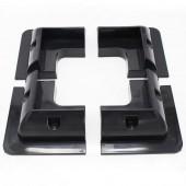 1 Set/Lot ABS Black Solar Panel Mounting Bracket Kits For Caravan Motorhome RV