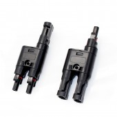 3 Pairs 2 To 1 MC-4 T Parallel Branch Connector Connect For Solar Pv System