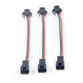 5pcs 3 pin JST SM Male to Female plug LED Connecter Cable
