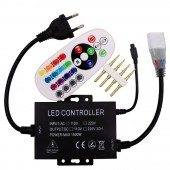 220V/110V RGB Controller 1500W With 24key IR Remote Dimmer US Plug / EU Plug 8mm/10mm PCB