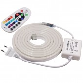 220V Flex 5050 LED Neon Rope Light RGB Indoor Outdoor for Holiday Party Valentine Decor