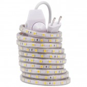 High Quality Waterproof Dimmable 220V LED Strip Light 5050 With EU Dimmer Plug for Home Christmas Decor String Light