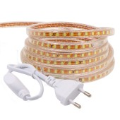 5M SMD 2835 LED Strip 220V Waterproof Flexible Led Tape Light Rope Garden Lamp