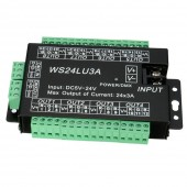 24CH Easy Dmx512 Decoder LED Dimmer Controller WS24LU3A