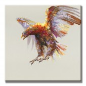 Eagles soaring Hand Painted Oil Painting with Stretched Frame Wall Art 32 x 32 Inch