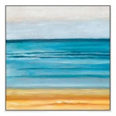 Ninety Mile Beach Hand Painted Oil Painting with Stretched Frame Wall Art 32 x 32 Inch