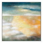 Sandy Bay Hand Painted Oil Painting With Stretched Frame Wall Art 32 x 32 Inch