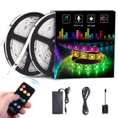 32.8ft 10m Dream Color LED Light Built in IC RGB 300Leds SMD5050 Flexible Strip Lighting With Remote Color Changing Led Strip Chasing Effect for Home Lighting
