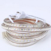 3014 Led Atrip 220V 120leds/m waterproof Flexible Led Light White/warm White + EU Plug 3m 5m 10m 15m