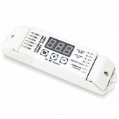 12-24V 3-Digital-Display Shows DMX Address Code DMX512 4CH Power Decoder