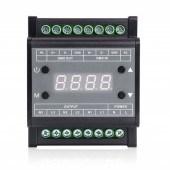 AC90-240V 3CH Guide Rail DMX Triac Dimmer with Digital Tube Display