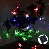 4.8M 30 Led RGB Dragonfly Solar Light Solar Led Christmas Lights For Home And Garden Waterproof Led Sensor Outdoor Light