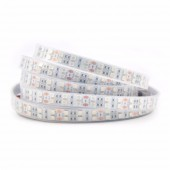 5M DC12V Double Row 5050 LED Strip 120LEDs/m Flexible White PCB