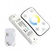M5 LED Controller Dimmer couleur Contrôle de la température de Dimming réglable chaud - Natural - Eclairage à froid bande LED blanche (M5 WW-NW-CW CT)