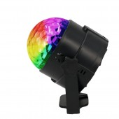 4W 15 Colors Sound Activated Crystal Magic Ball RGB LED Stage Lighting Effect Party DJ Disco Lamp With Remote Controller