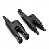 2 Pair Multi T Branch MC-4 Connector For Solar Panel Parallel Connection Branch Two Pv Module Panel Connector