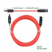 2 Pcs/Lot 2M 4mm 12AWG DC Voltage PV Solar Cable Extensions With MC-4 Connectors