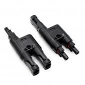 3 Pair/Lot Solar PV MC-4 Branch Connectors MC-4 T/ Y Branch Cable Splitter Coupler Combiner MFF FMM
