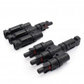 1 Pairs IP68 MC-4 T Branch Connector Solar PV Connector 3 In 1 PV Cabel Solar Power System LJ0150
