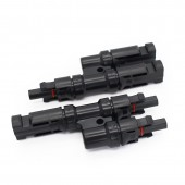 2 Pairs Lot 25 Years Life Guarantee 2 To 1 Solar PV MC-4 T Branch Connectors Solar Energy Adapter T Connector