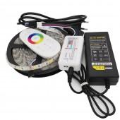 5050 LED Strip RGB / RGBW / RGBWW 5M 300LEDs Strip Set Flexible LED Neon Tape Light + 2.4G Remote Controller + DC 12V 5A Power